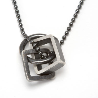 Silver Inter-link Pendant